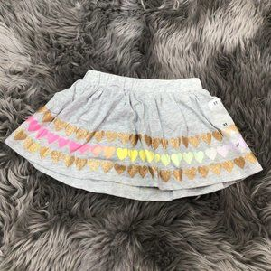 Epic Threads Girl's Skirt | Grey| Colourful Hearts